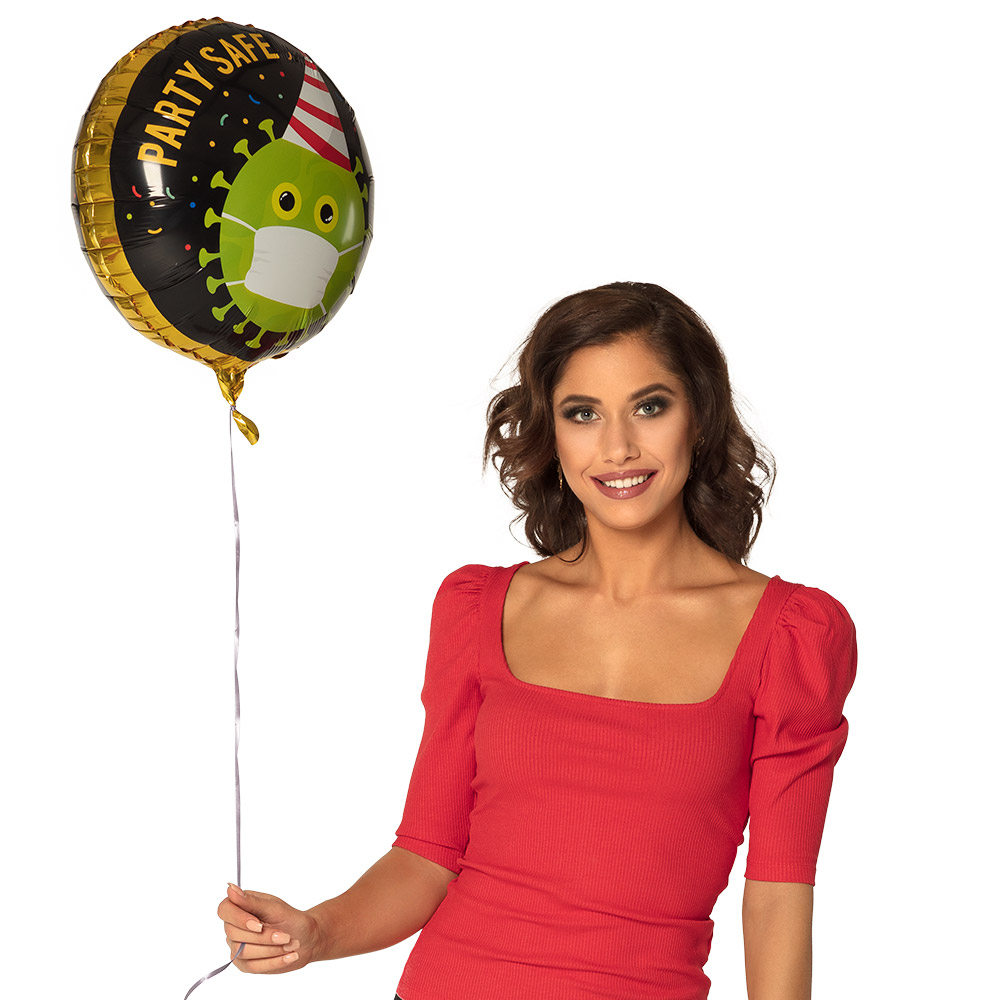 Folieballon Corona Party Safe 45cm