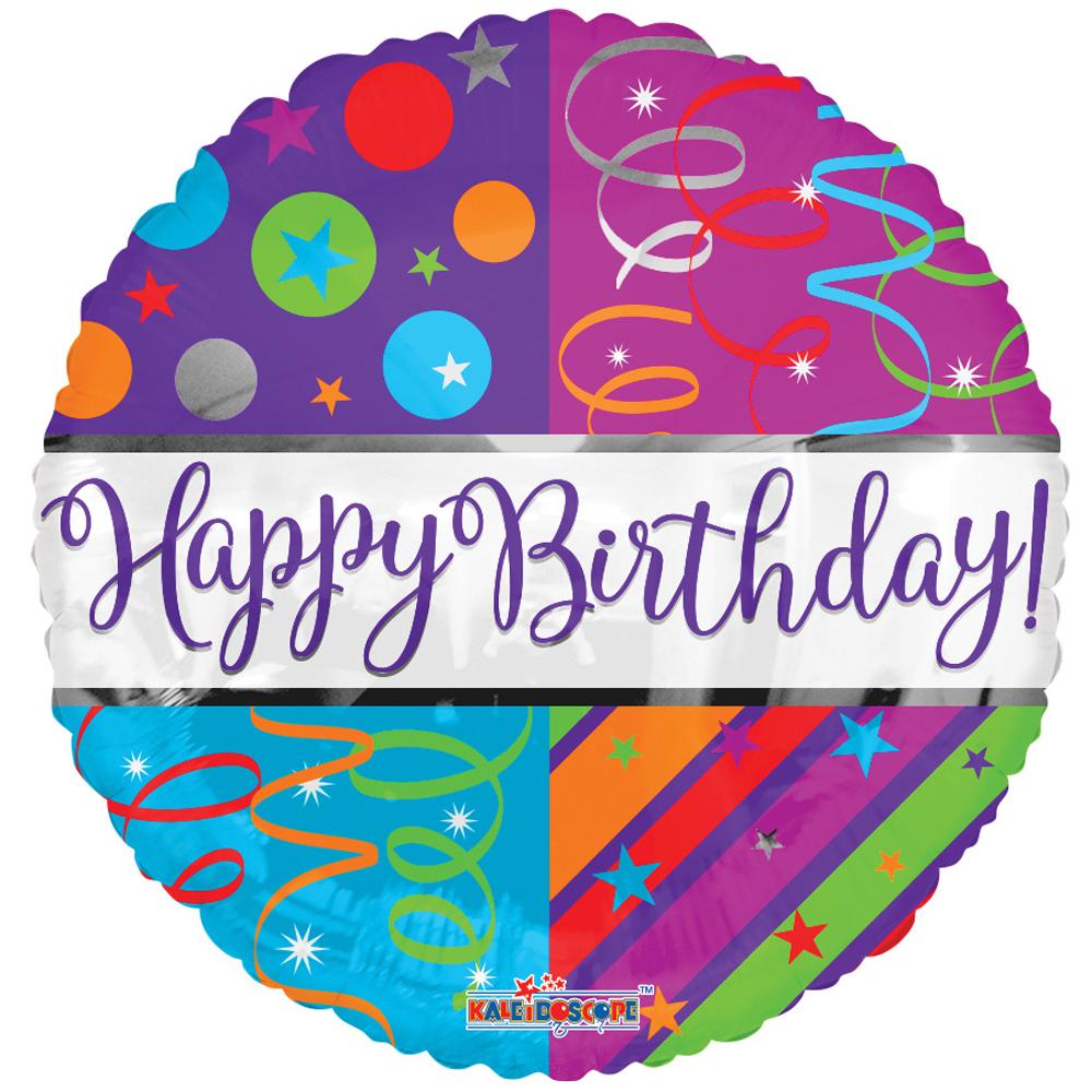 Folieballon Happy Birthday Streamers 46cm