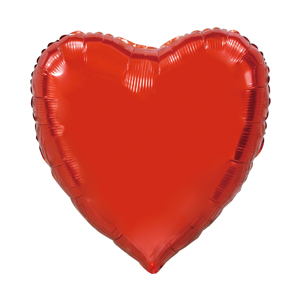 Folieballon Hart Uni Rood 92cm