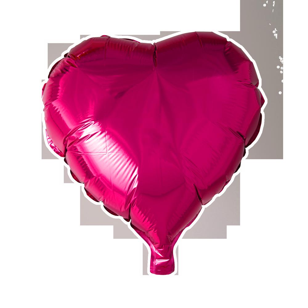 Folieballon Hart Uni Roze 46cm