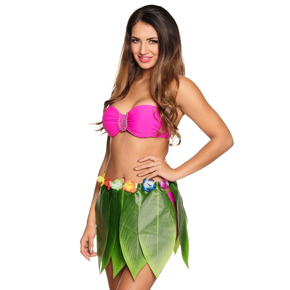 Hawai Rok Palmbladeren 40cm Volwassen
