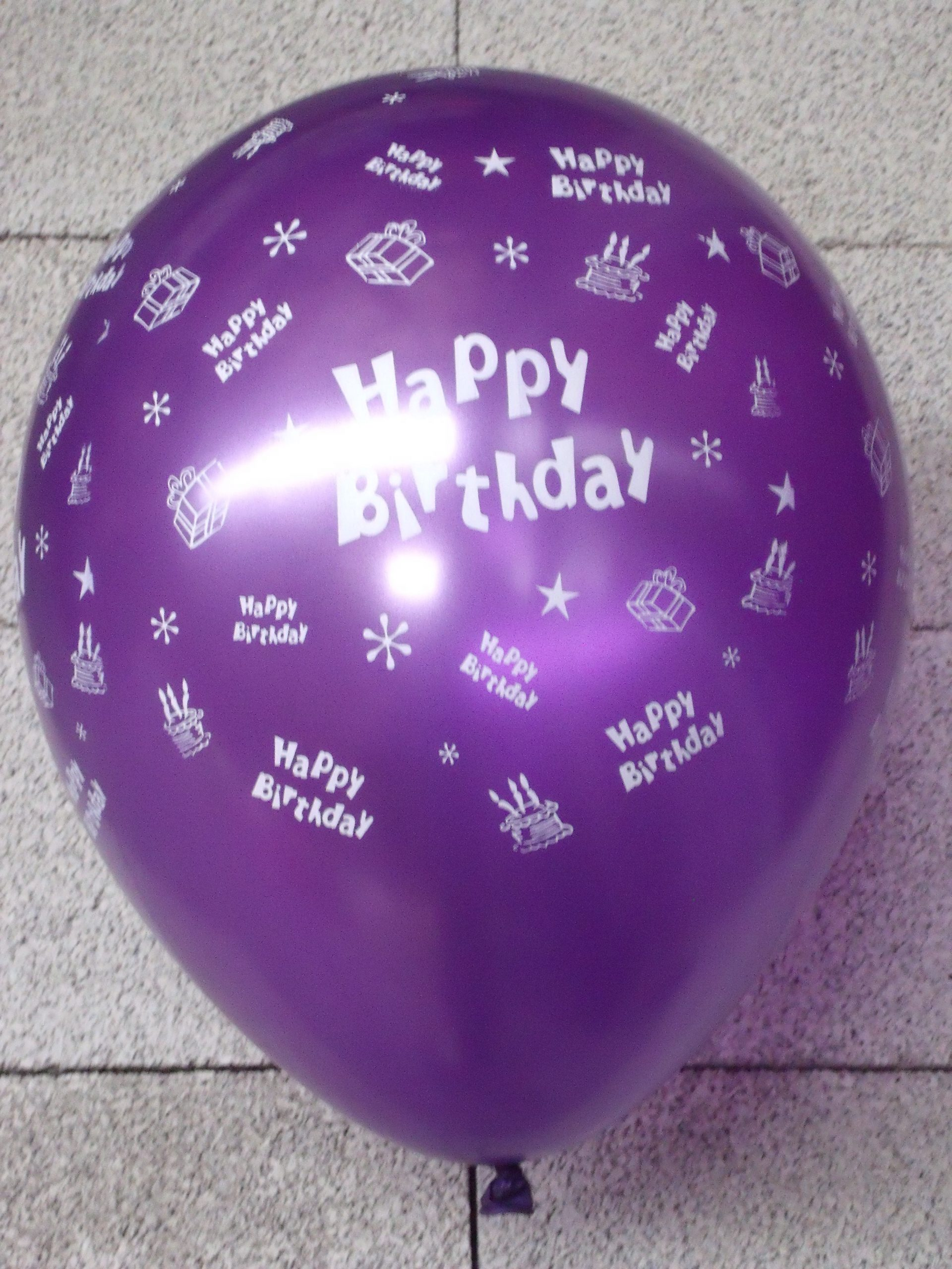 "5st Helium Ballonnen Assorti Happy Birthday 14"""