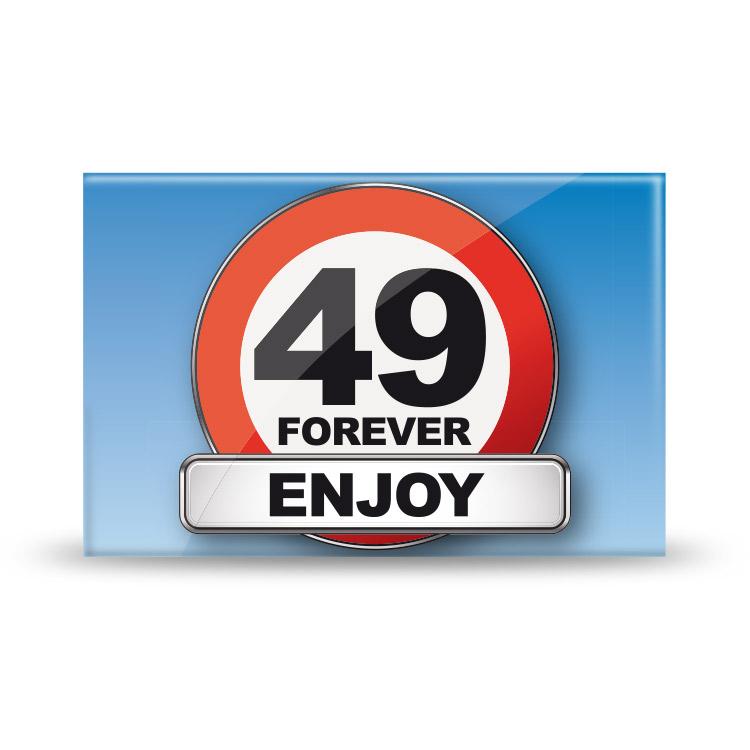 Magneet 49 Jaar Forever Verkeersbord