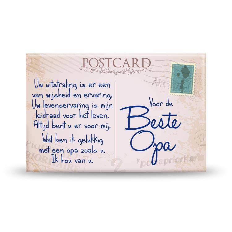 Magneet Beste Opa Postkaart