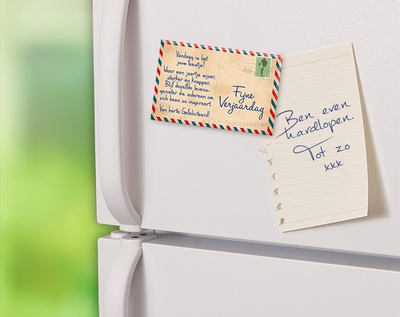 Magneet Fijne Verjaardag Postkaart
