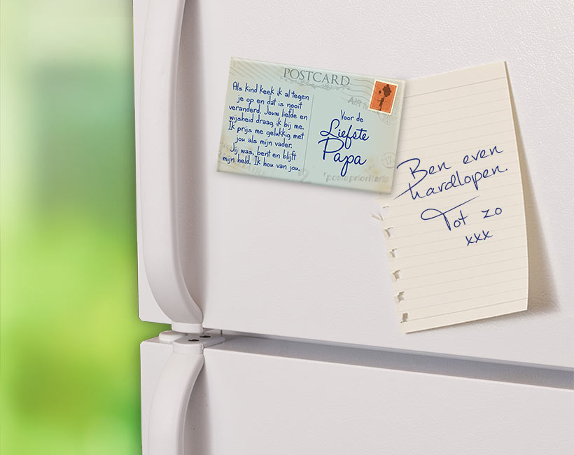 Magneet Liefste Papa Postkaart