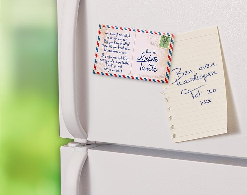 Magneet Tante Postkaart