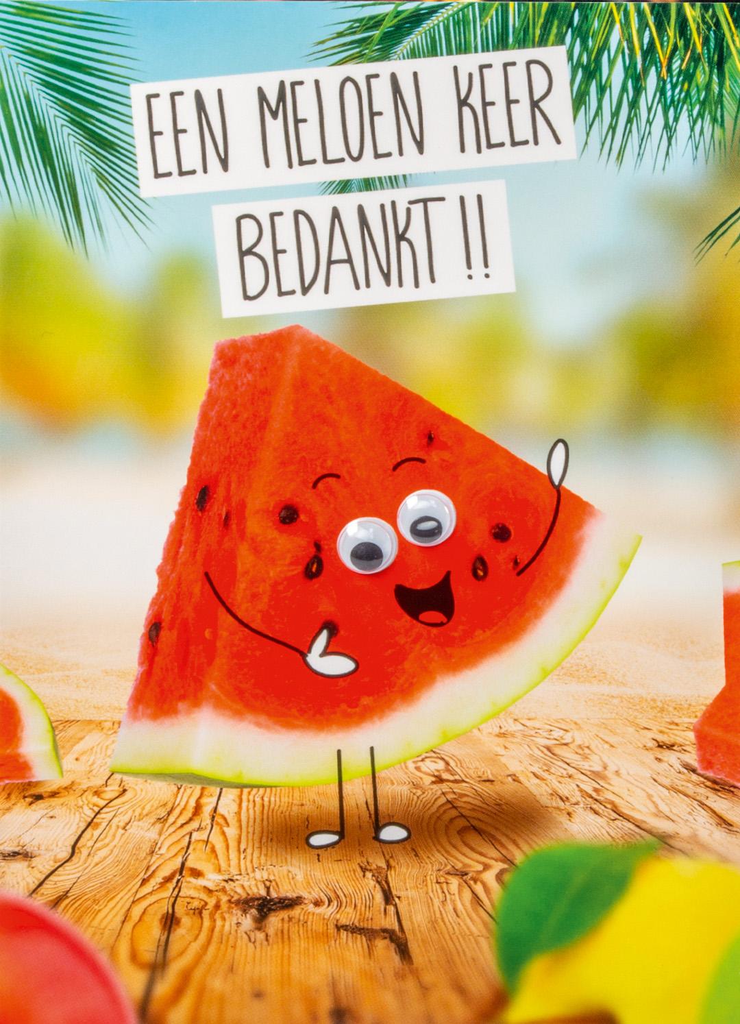 OMG Wenskaart Meloen