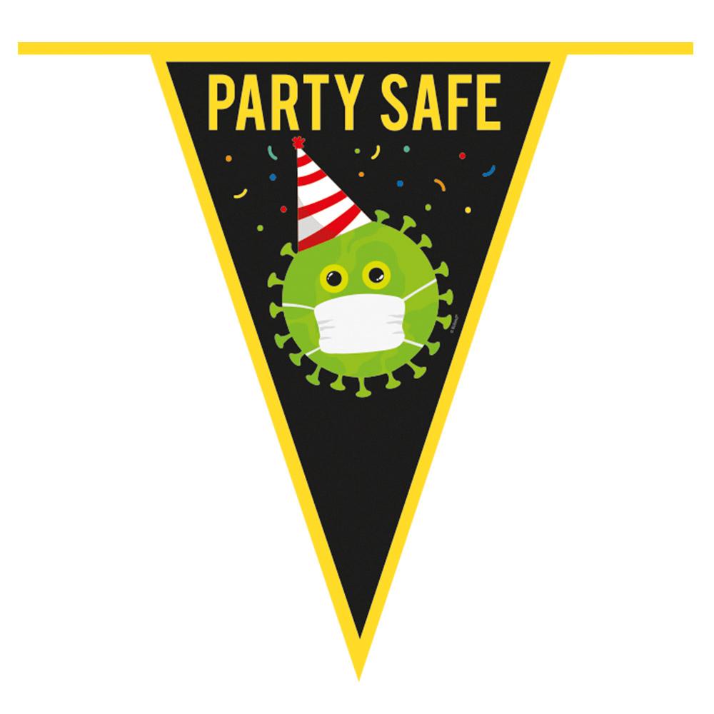 6m Vlaggenlijn Corona Party Safe