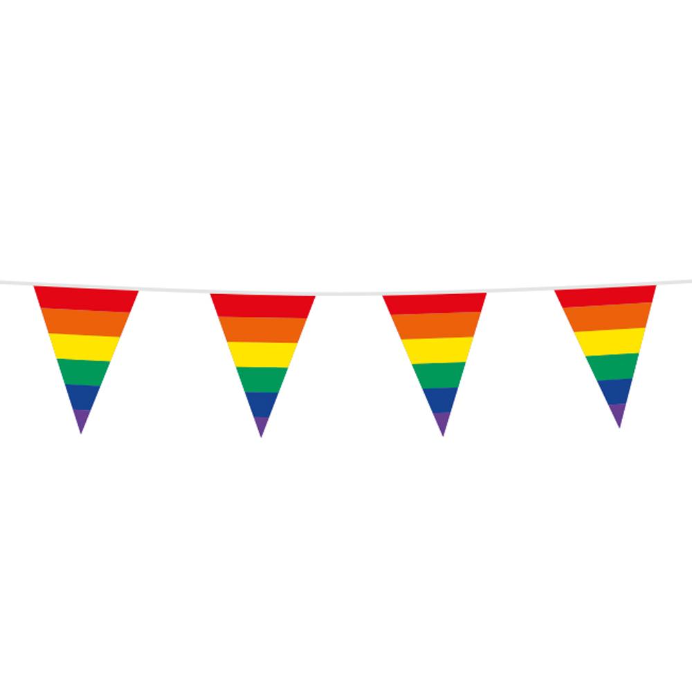 Vlaggenlijn Regenboog 10m