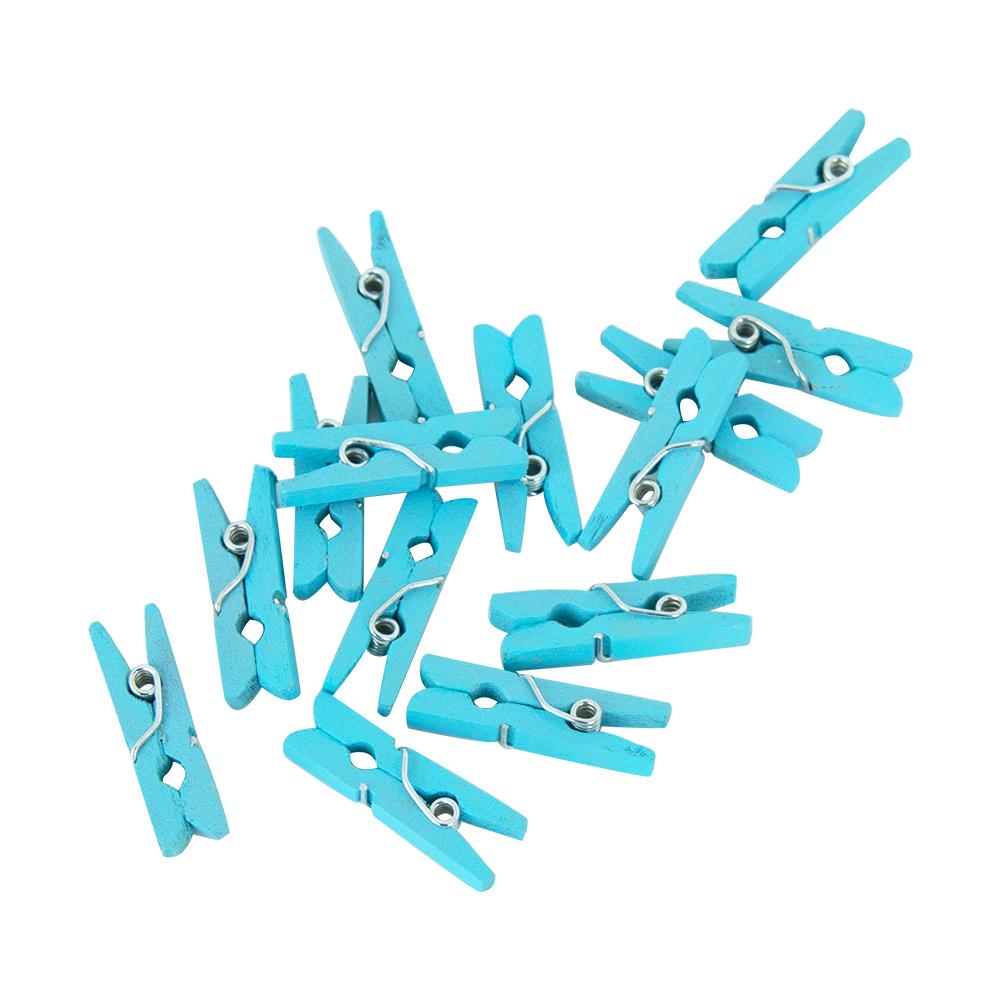 24st Wasknijpertjes Blauw Mini 2,5cm