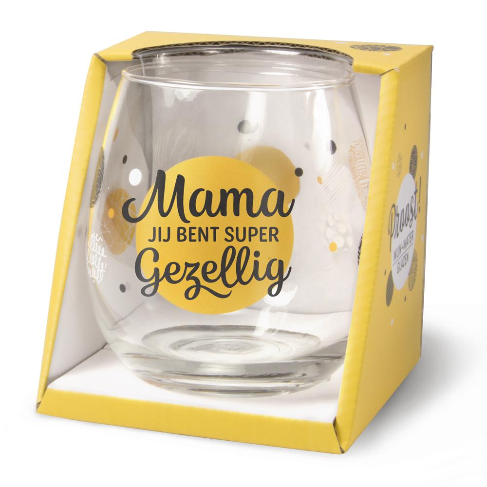 Waterglas Mama, jij bent super Gezellig