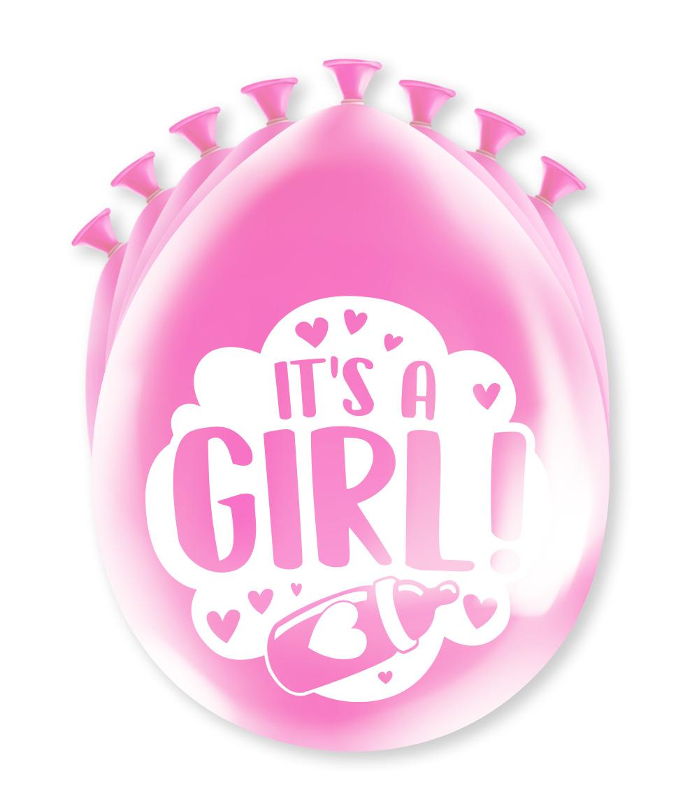 """8st Ballonnen It's A Girl! 12"""""""