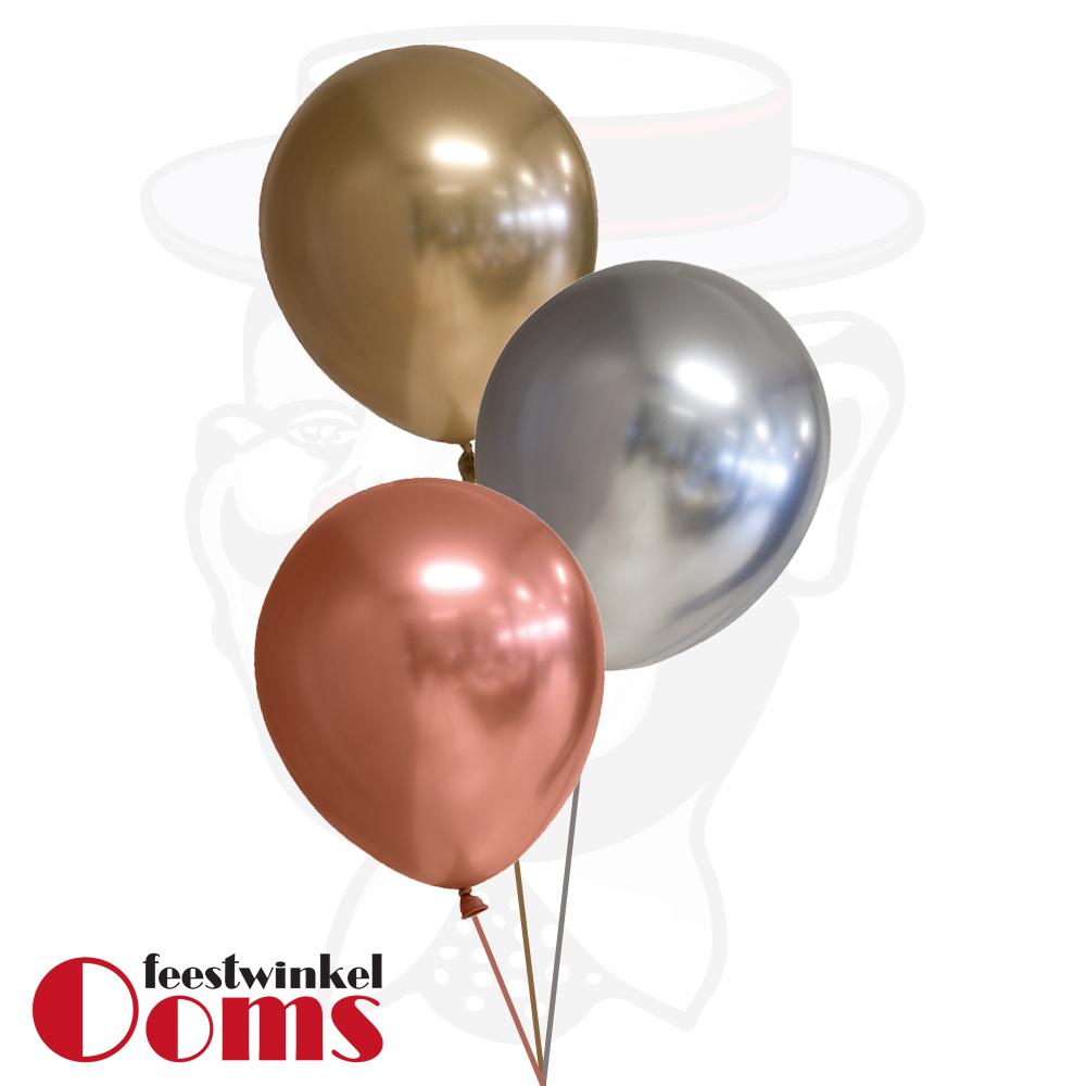 Ballonnen Tros Goud/Zilver/Brons Chrome
