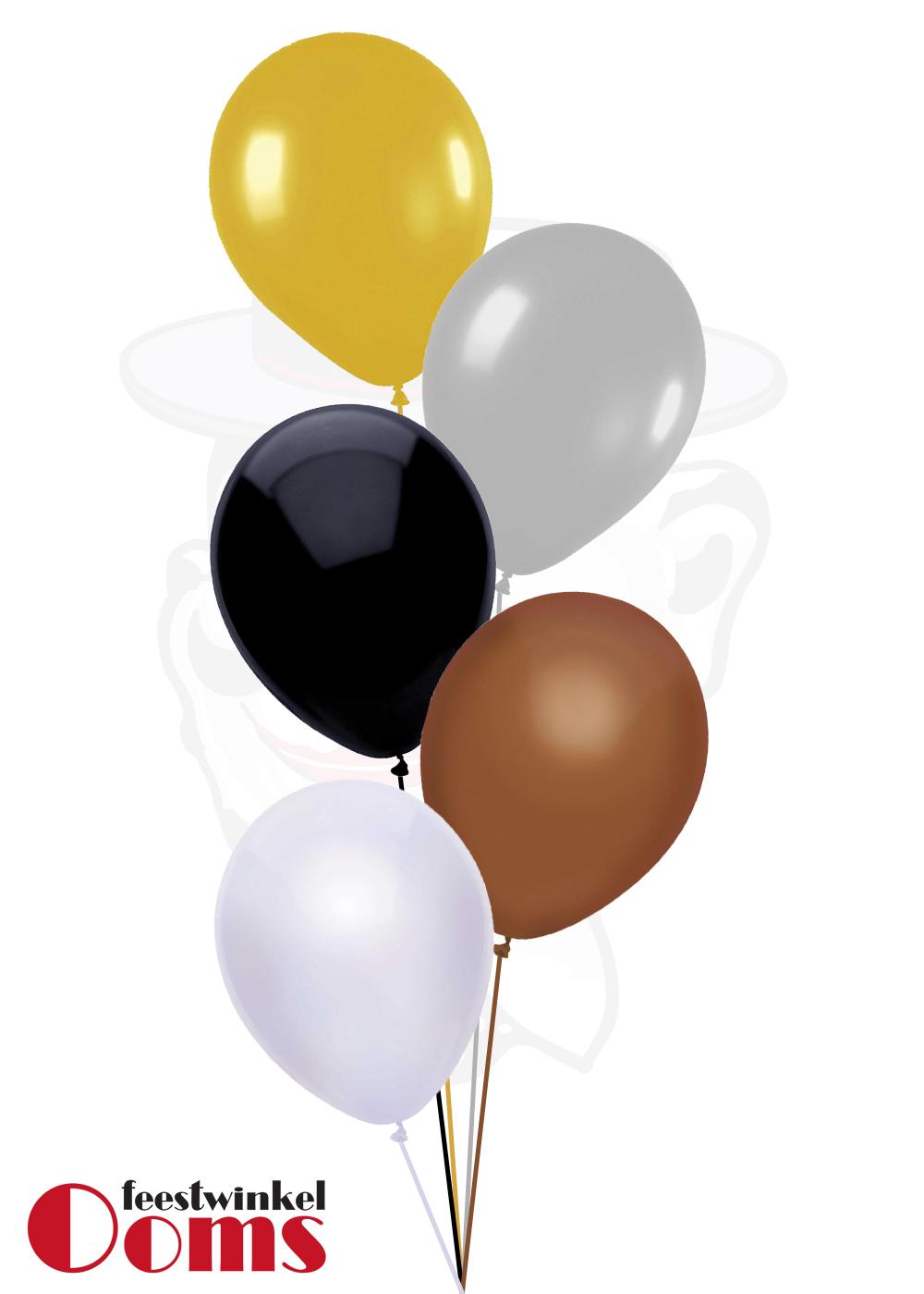 Ballonnen Tros Goud/Zilver/Zwart/Brons/Wit