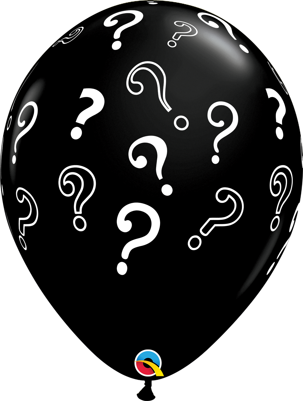 5st Ballonnen met Vraagtekens 16Inch