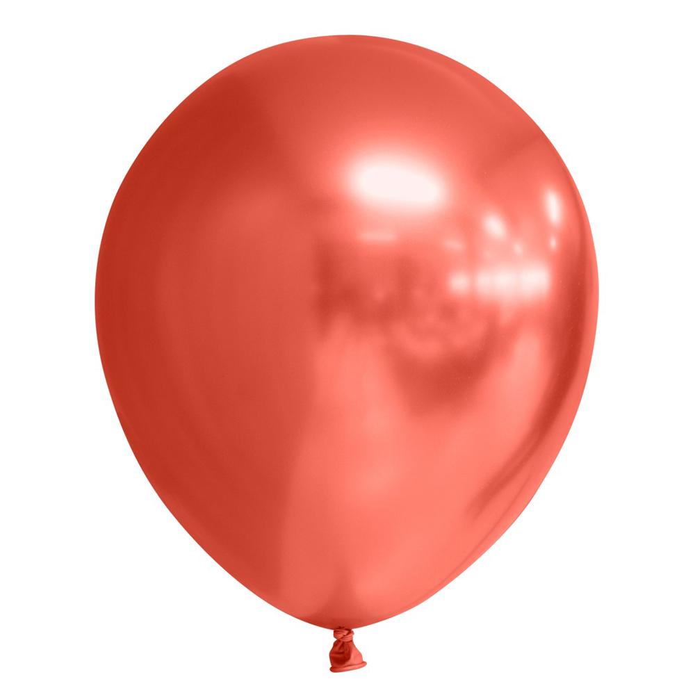 """5st Chrome Ballonnen Rood 12"""""""