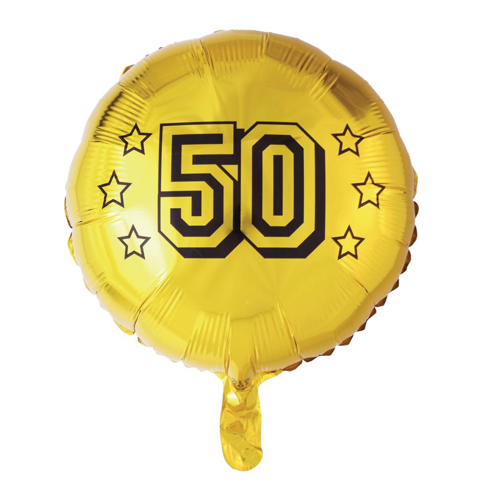 Folieballon 50 Jaar Goud 46cm