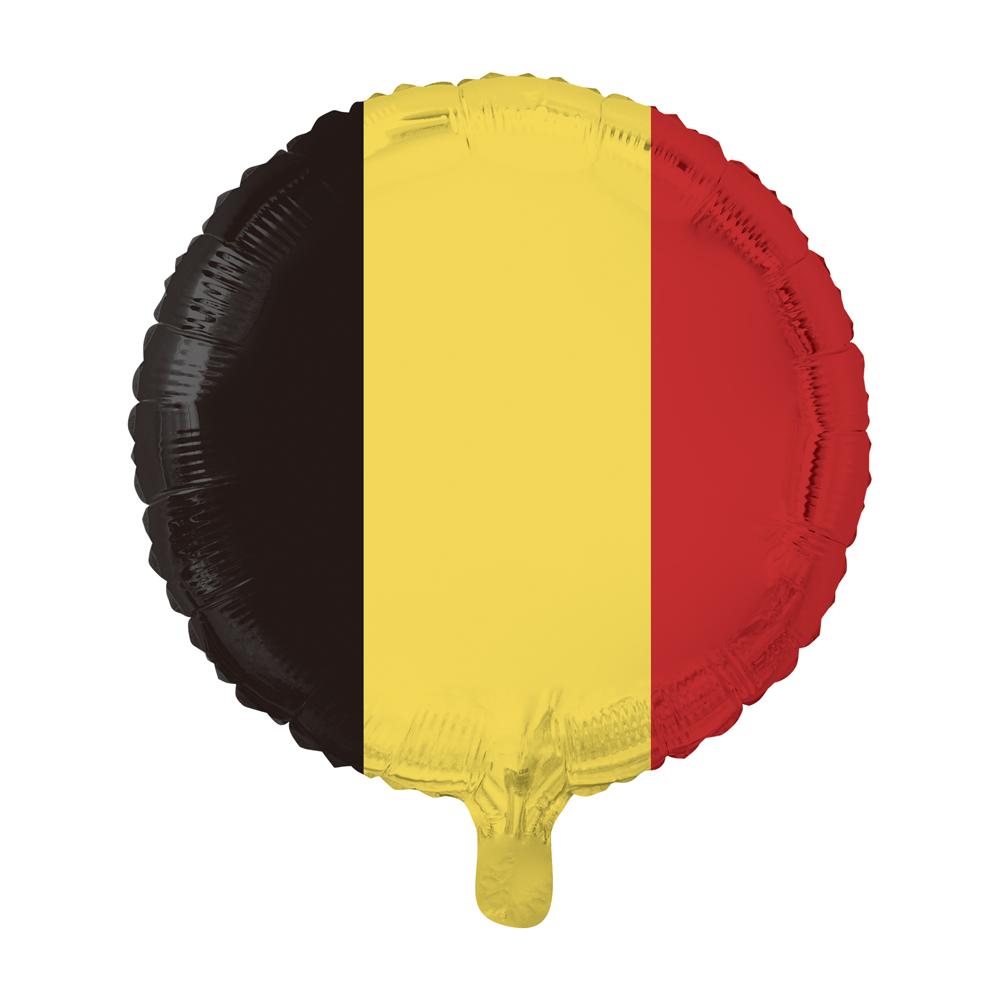 Folieballon Belgische Vlag 46cm