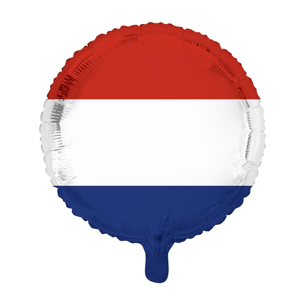 Folieballon Nederlandse Vlag 46cm