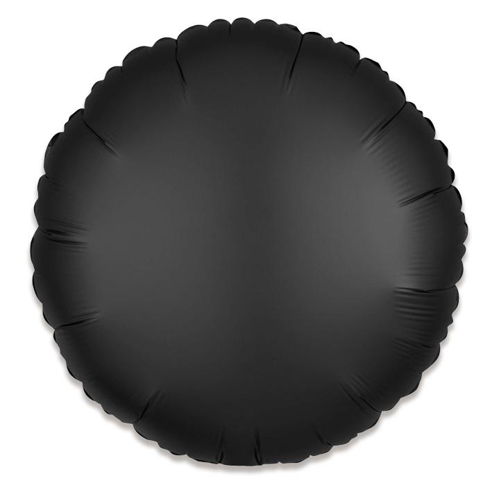 Folieballon Rond Uni Zwart Mat 43cm
