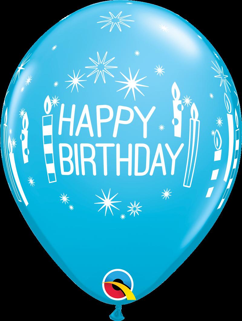 """5st Helium Ballonnen H.Birthday Kaarsjes 11"""""""