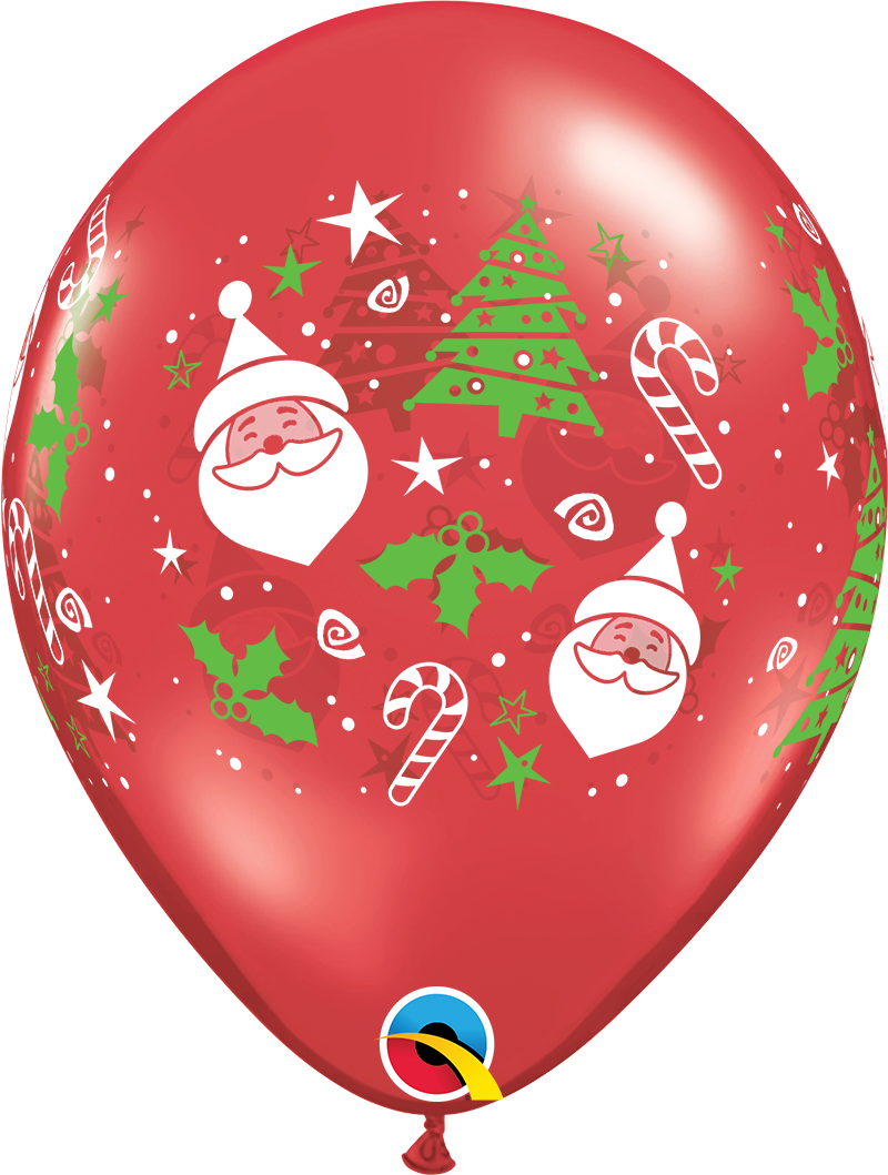 """5st Helium Ballonnen Kerst 11"""""""