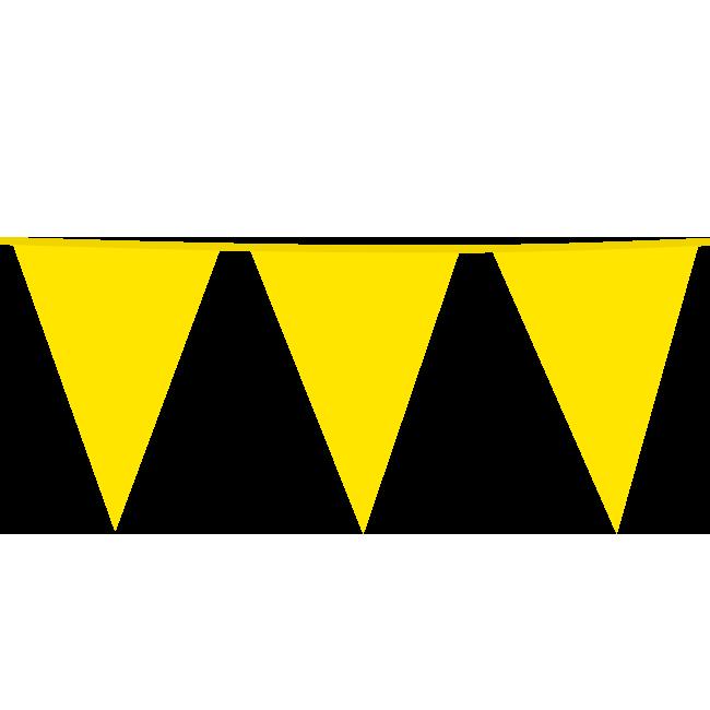 10m Maxi Vlaggenlijn Uni Geel