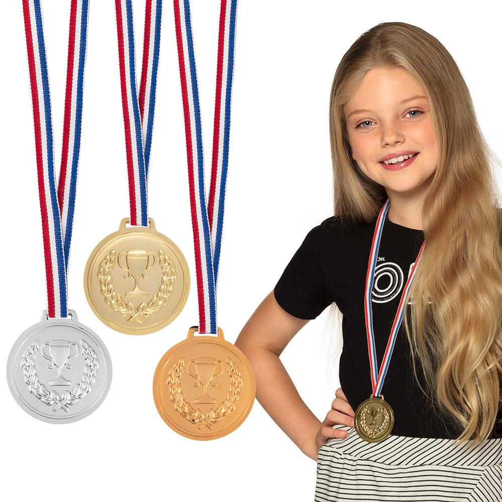 3st Medailles Goud/Zilver/Brons 6cm