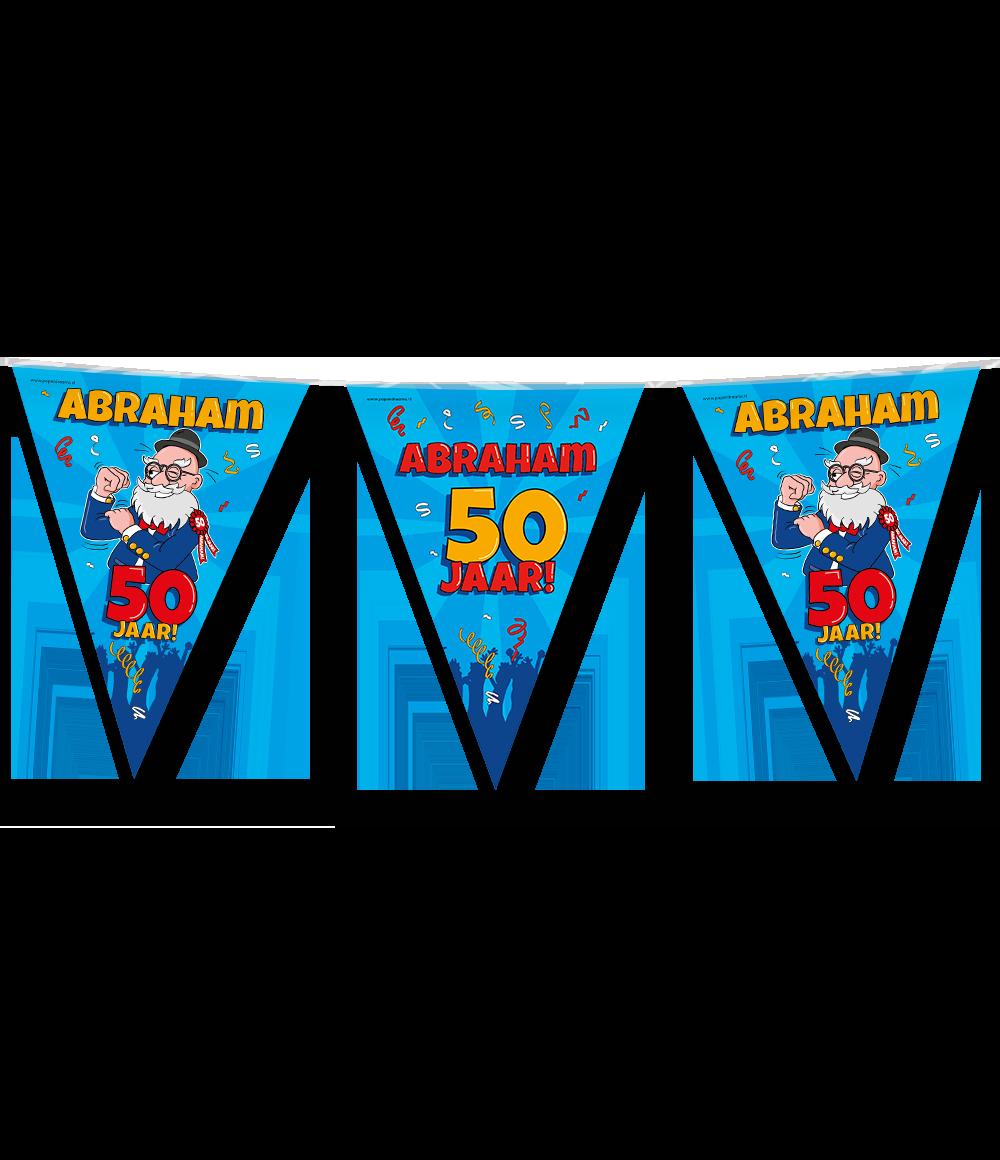 10m Vlaggenlijn Cartoon Abraham