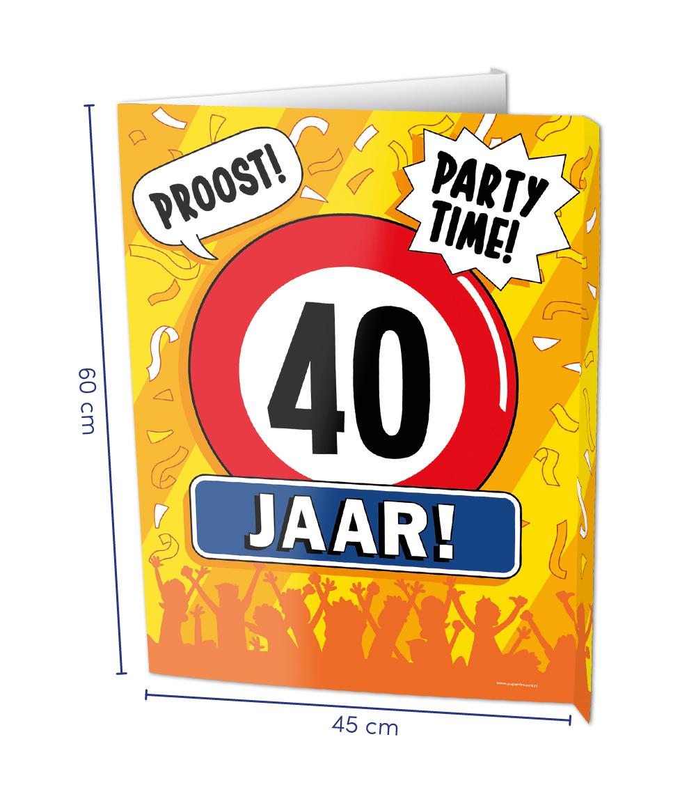 Window Sign 40 Jaar