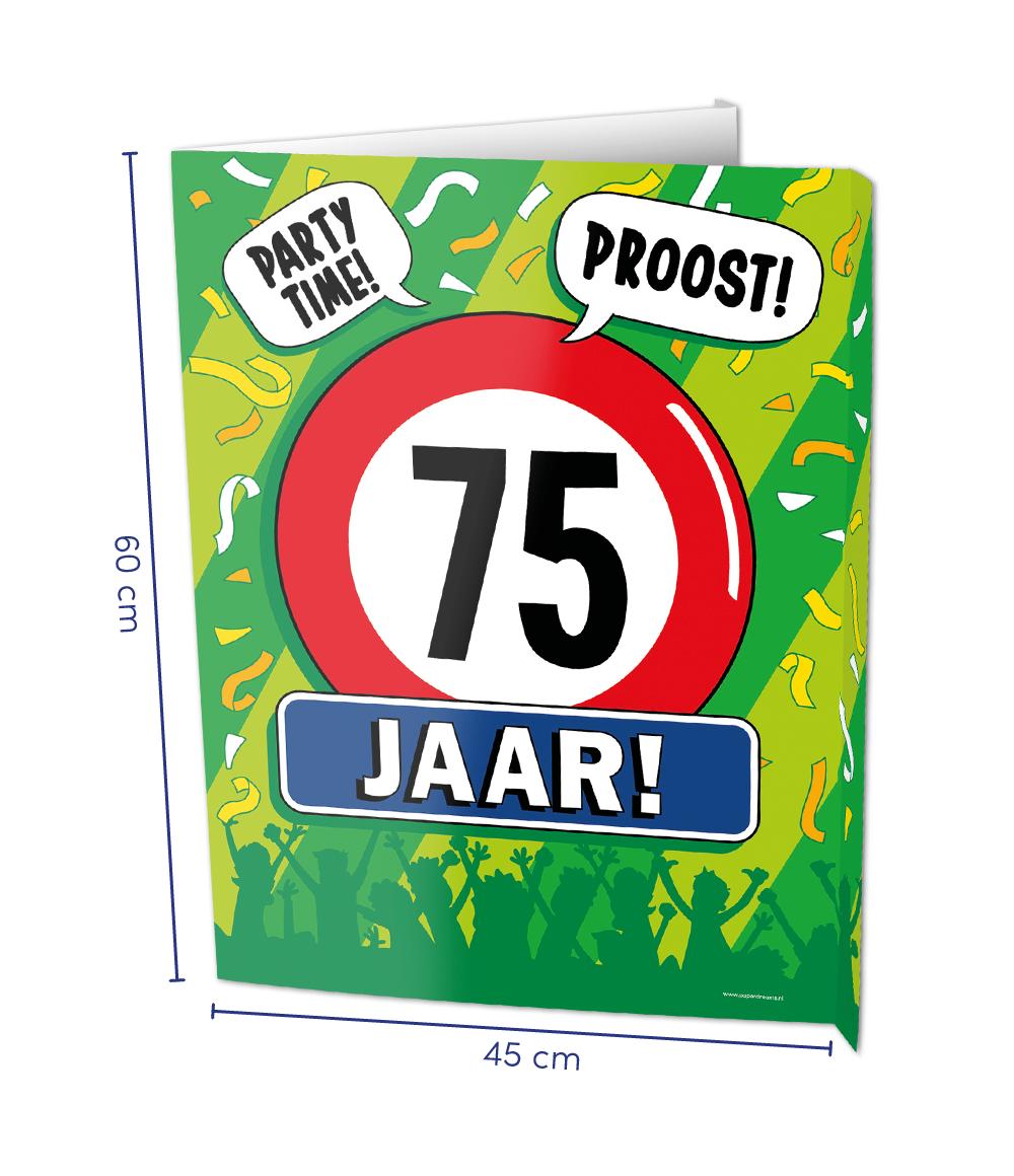 Window Sign 75 Jaar
