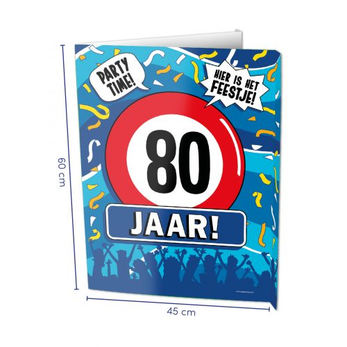 Window Sign 80 Jaar
