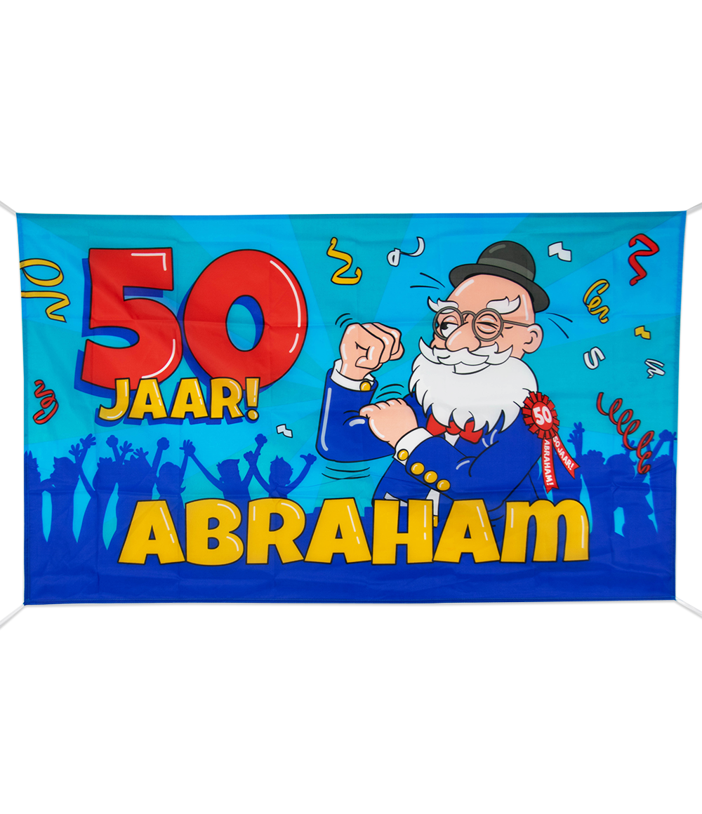 XXL Gevelvlag Abraham Cartoon