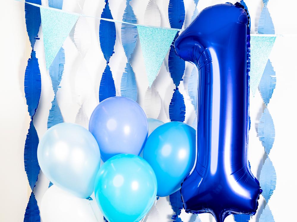 Folieballon blauw 1 jaar