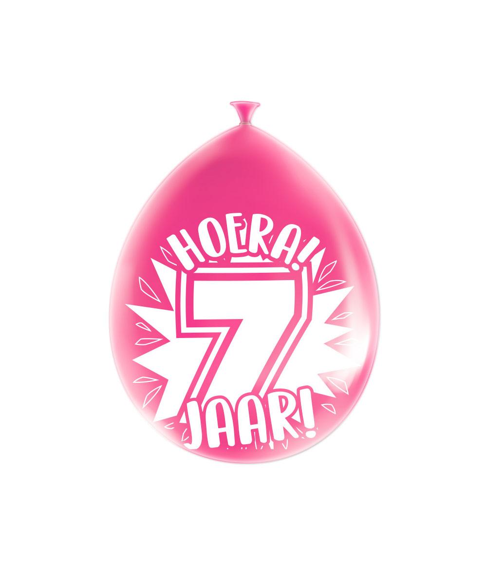 """8st Ballonnen Hoera! 7 Jaar! 12"""""""
