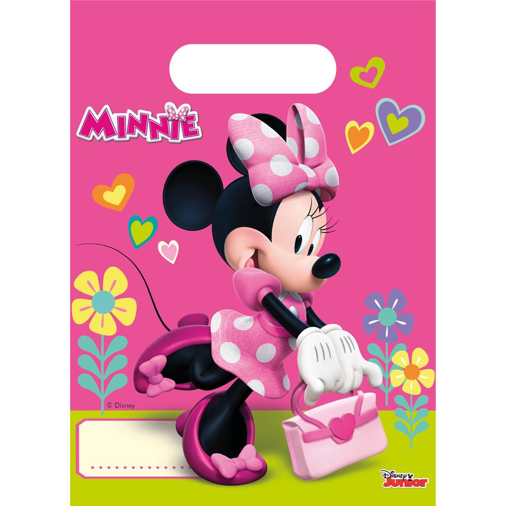 6st Feestzakjes Minnie Mouse