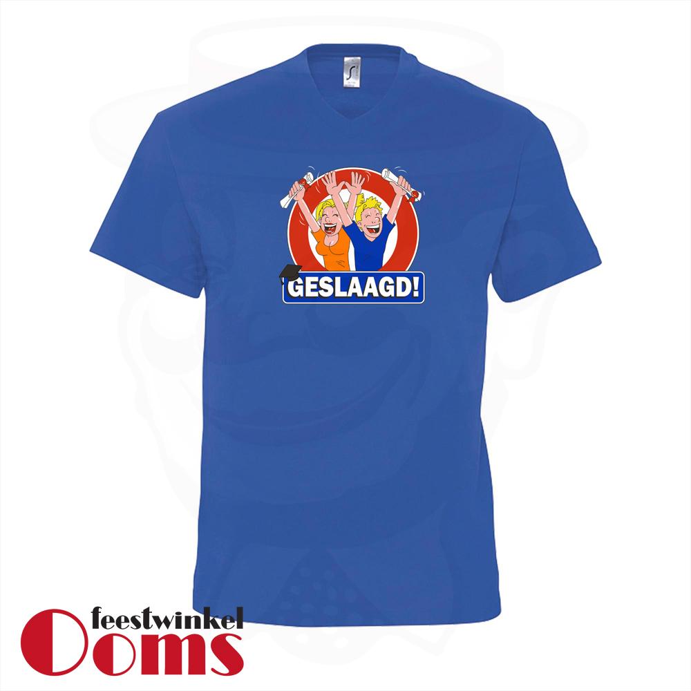 """T-Shirt """"Geslaagd"""" Blauw Heren"""