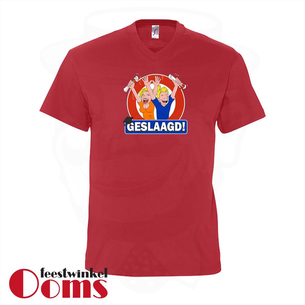 """T-Shirt """"Geslaagd"""" Rood Heren"""