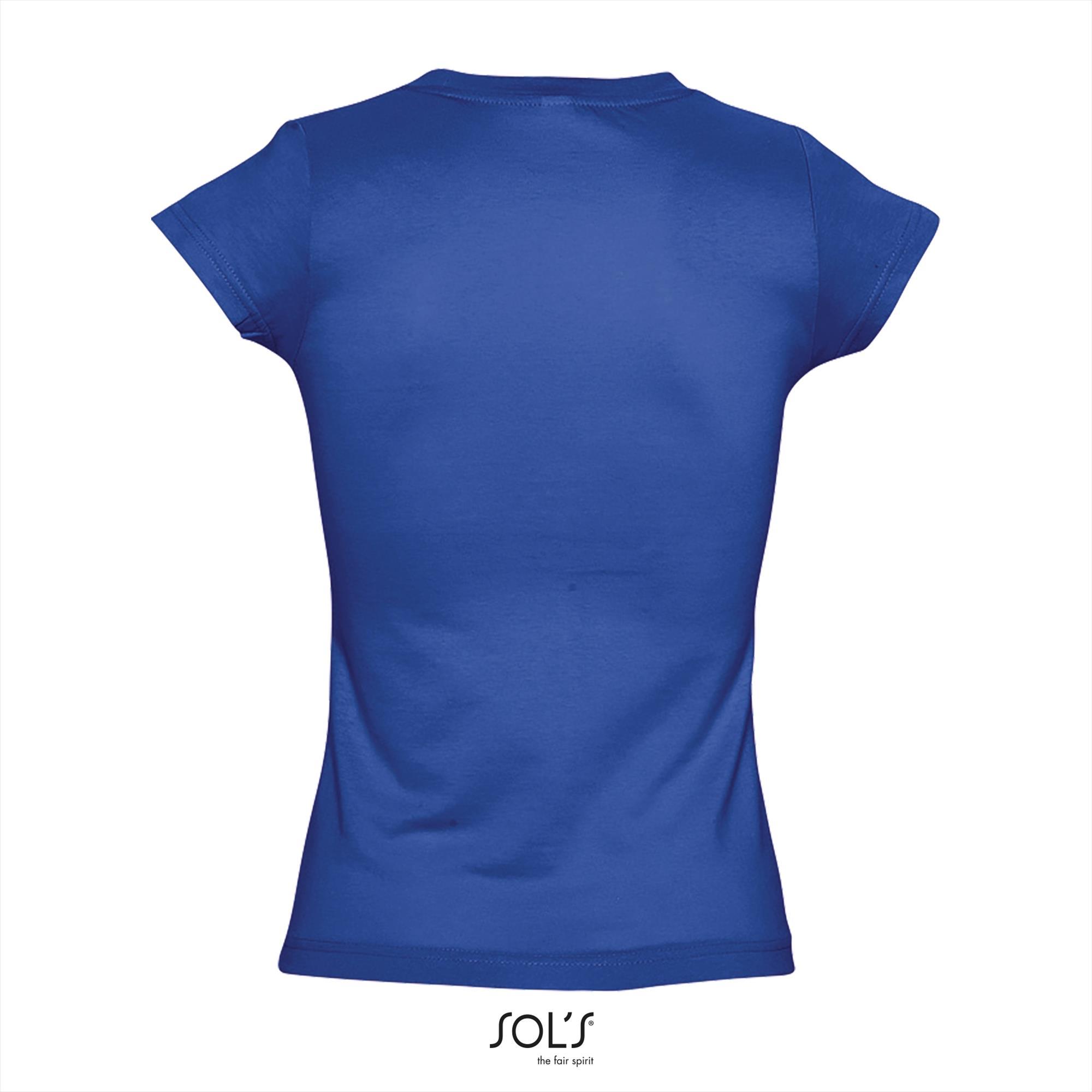 T-Shirt Moon Uni Blauw Dames