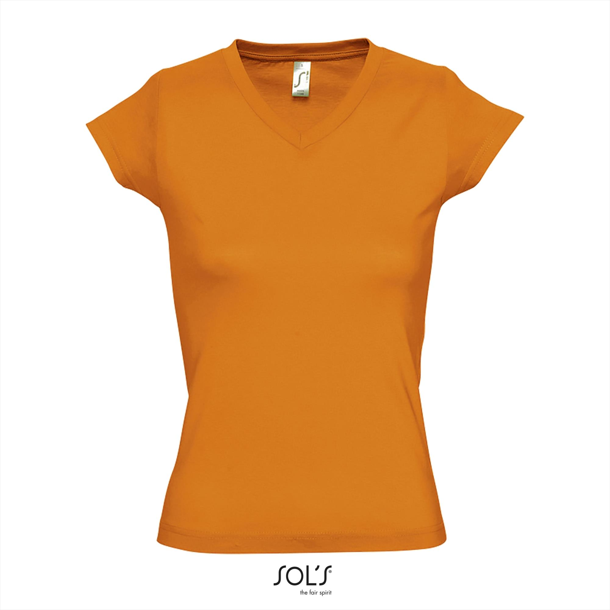 T-Shirt Moon Uni Oranje Dames