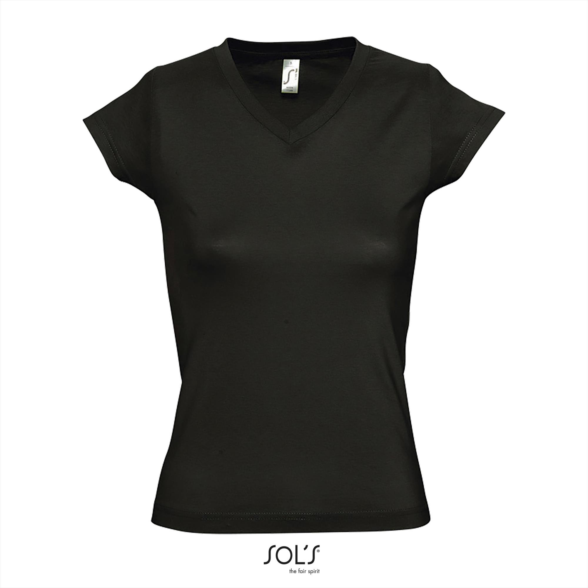 T-Shirt Moon Uni Zwart Dames