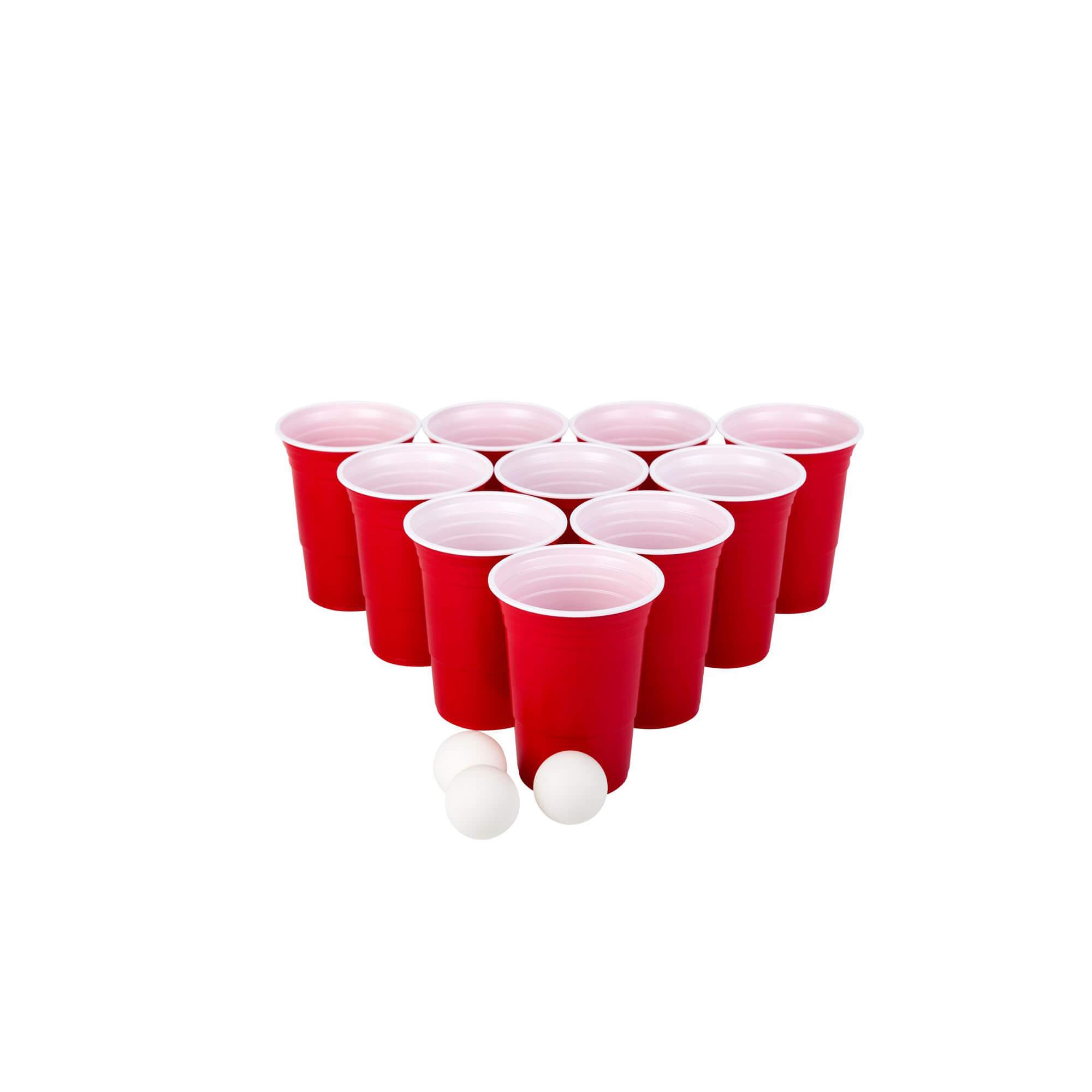 American Beer Pong Set Rood