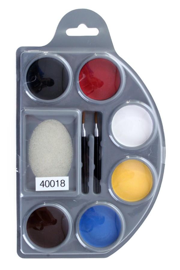 Aqua Schminkpalet 6Kleuren Basis