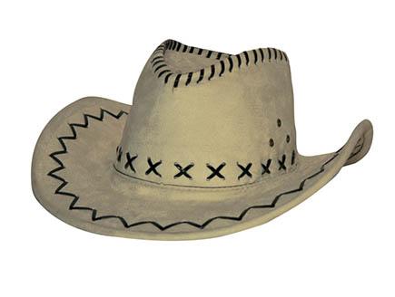 Cowboy Hoed Suede Beige