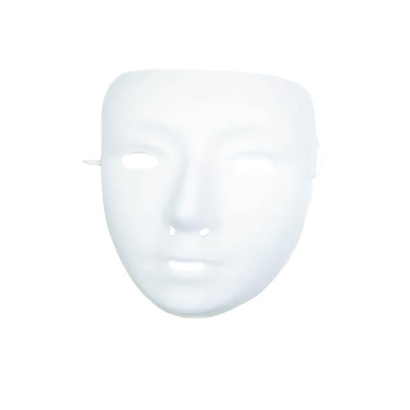 Plastic Grimeermaskers Wit Kalklaag Klein