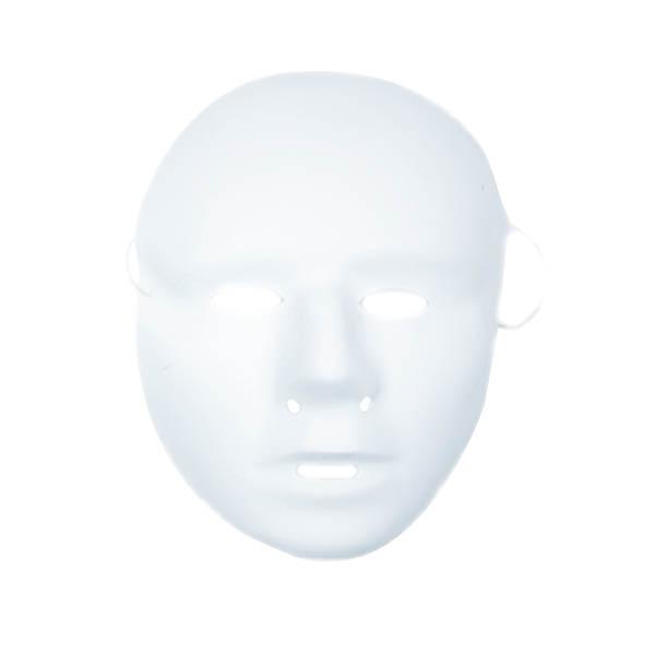Plastic Grimeermaskers Wit Kalklaag Groot