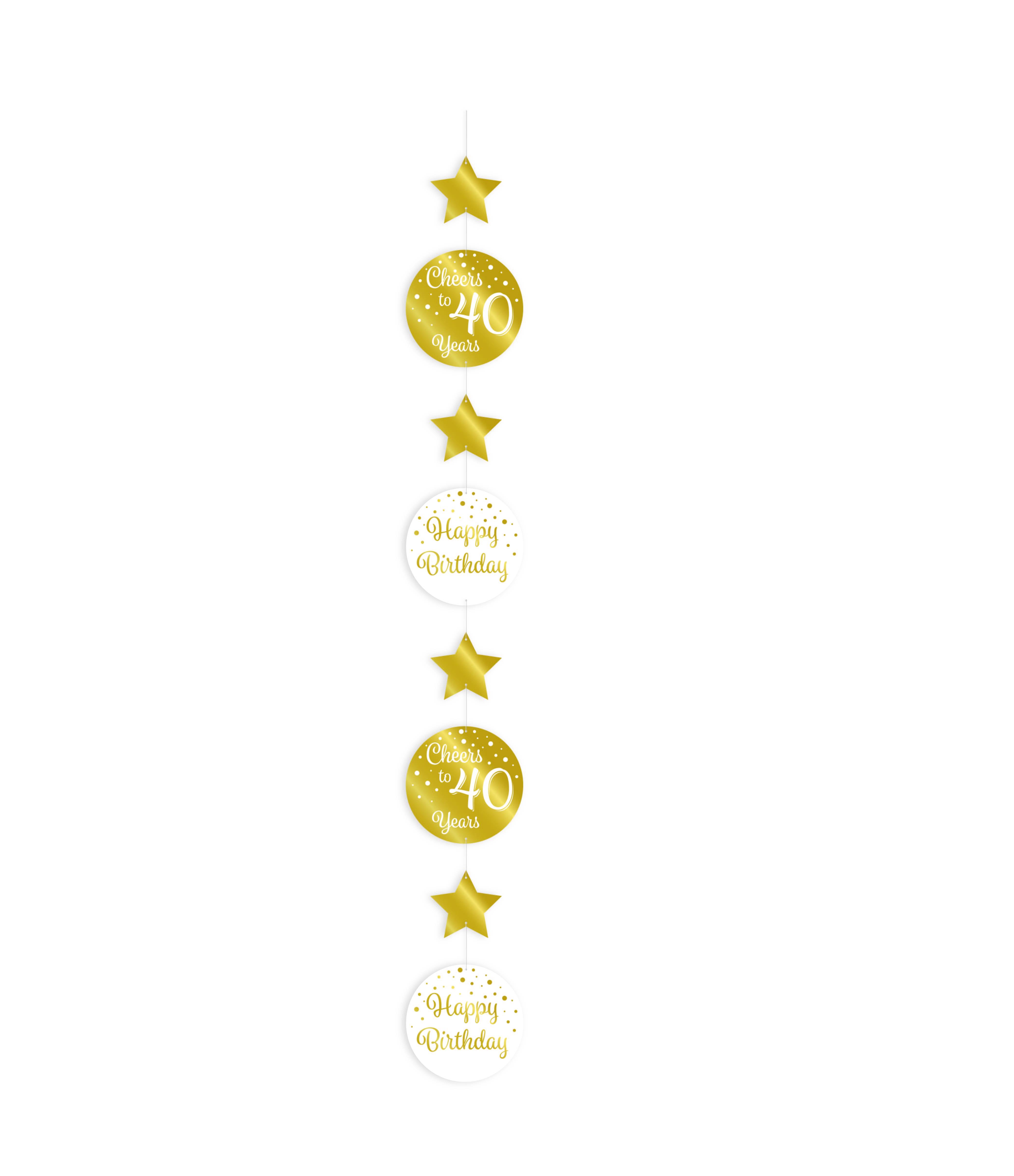 Hangdecoratie Goud/Wit Cheers to 40 Years