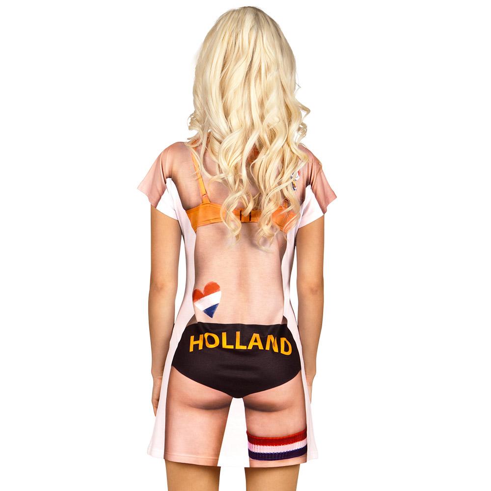Jurkje Fotoprint Sexy Fan Dames Mt.M/L