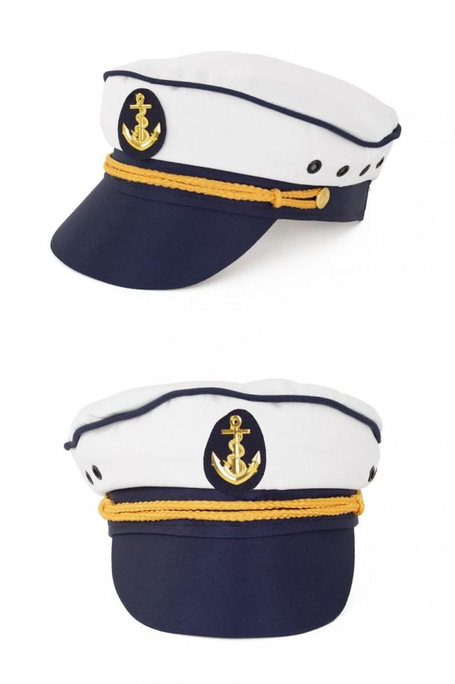 Kapiteinspet Wit/D.Blauw Mt.57-59-61